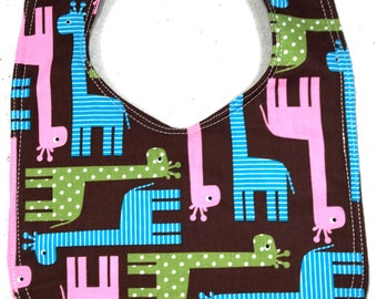 Giraffe Baby Bib - dribble bib - infant bib  - Animal bib - giraffe - baby boy - baby girl - baby shower gift