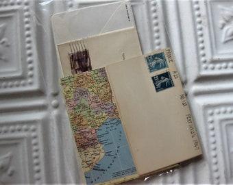 Vintage Map, Envelopes and Stamps Ephemera Pack, 32 Pieces  Scrapbooking, Journaling, Collage