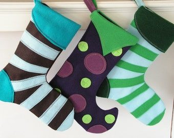 Modern Christmas Stockings (choose one)