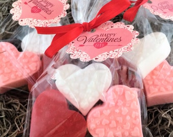 Valentines Day  Heart Design Soap Favors: Valentines Day Favors, Valetine Hearts, Valetines gift, Soap Favors, Party Favors, School Favors