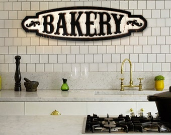 Large Bakery Sign Bakery Wall Decor Vintage Bakery Sign Bakery Logo Farmhouse Sign Bakery Wood Sign Kitchen Pantry Sign Rustic Bakery Sign