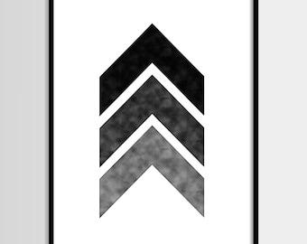 Abstract print, Modern print, Graphic art, Scandinavian, Black and white, Digital art, Printable art, Digital poster Instant Download 8x10