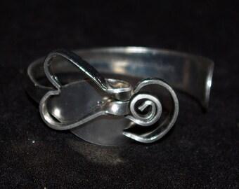 Fork Art Heart Bracelet made from stainless steel silverware
