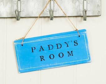 Personalised Childrens room sign/Kids bedroom door sign/Bespoke Bedroom door sign/coloured door plaque/Hand painted door sign/Kids door sign