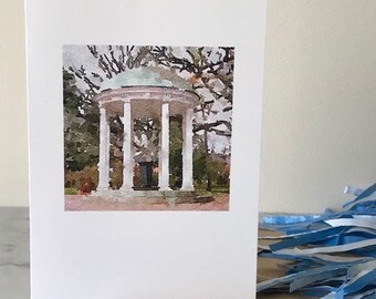 UNC CARD, UNC Old Well, Tarheels Cards, North Carolina cards, Set Five Cards, Gift Set Cards, Blank Greeting Card, Watercolor Card