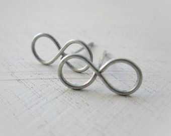 Tiny Infinity Stud Earrings - Delicate Stud Earrings