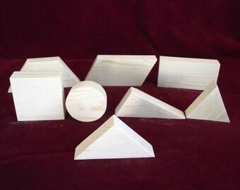 Basic Geometric Shapes, Unfinished Pine Cutouts