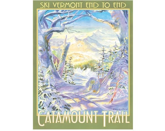 Catamount Trail Vermont Travel Poster