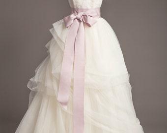 "Lilac Wedding Sash - 3"" -  Romantic Luxe Grosgrain Ribbon Sash - Wedding Belt, Bridal Sash, Bridal Belt - Wedding Dress Sash - Purple Sash"