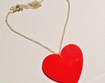 Red Queen Of Hearts Wonderland Necklace