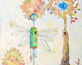8x8 Fine Art Print of Tree Girl