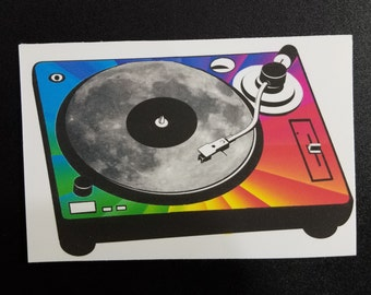 Rainbow Turntable Record Vinyl Sticker