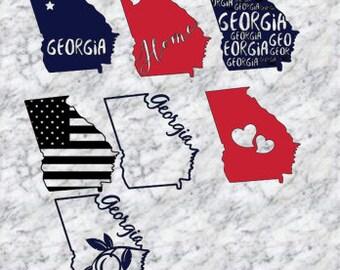 Georgia State Decal | Home Town Sticker | Georgia Car Decal | Car Decal | Car Sticker | Free Shipping