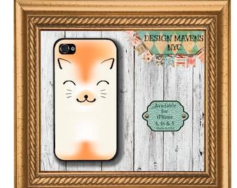 Cute Cat iPhone Case, Orange Cat iPhone Case, Pet iPhone Case, iPhone 4, 4s, iPhone 5, 5s, 5c, iPhone 6, 6s, 6 Plus, SE, iPhone 7, 7 Plus