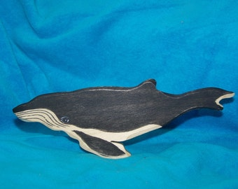 Humpback Whale wooden toy Waldorf by Anne Moze