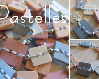 Pastel: Original buttons necklace