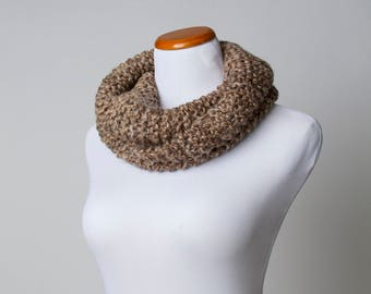 Brown Knit Cowl