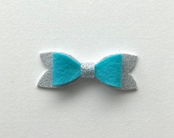 Turquoise Medium Classic Felt Bow