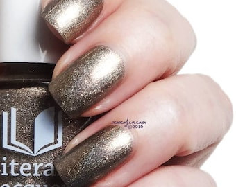 Sweet Lenore - Bronze metallic holographic nail polish