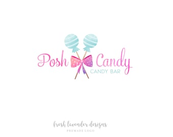 Candy Logo, Custom Logo Design, Watercolor Candy, Candy Shop Logo, Sweets Logo, Affordable Logo, Lollipop Logo, Watermark, Logo Designer