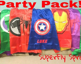 READY TO SHIP! Set of 5 Five Kids Superhero Capes - 35 Styles!