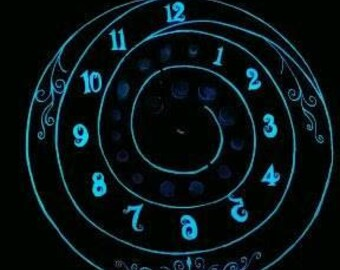 Quartz crystal spiral clock