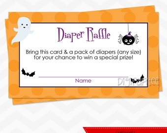 INSTANT DOWNLOAD - Witch Baby Shower Diaper Raffle Tickets