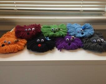 Yarn Puppies, Handmade, Yarn Dogs