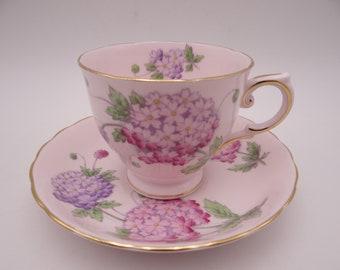 Vintage Duchess English Bone China Teacup Pink English Teacup and Saucer - Pink tea cup