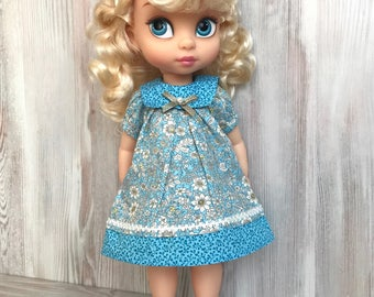 Floral dolls dress, animators doll clothes, 16 inch doll dress, doll clothes dress, doll clothing, dolls outfits, 40 cm doll clothes