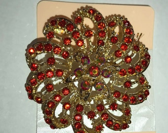 Beautiful Rhinestone Brooches for Turban, RED BLUE GREEN. Styling and Decor. Turban Accessories Head wrap Accessories . Hairpins |shopInobi