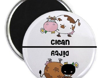 Cows Clean Dirty Dishwasher Magnet