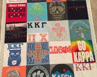 20 T-Shirt Memory Quilts (20 Shirts, 4x5)
