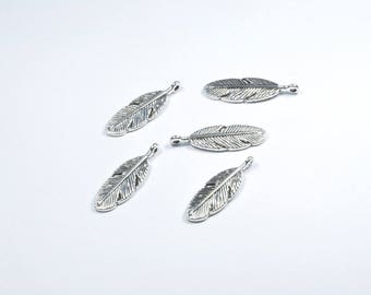 BR569 - Set of 5 charms silver metal pen