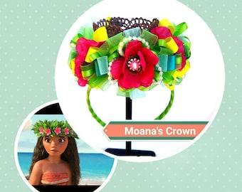Moana's Princess Crown-Tiara crown- Flower- Happy Birthday Crown- Princess Moana's Crown- Moana's Flower Crown