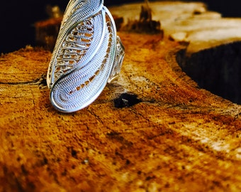 Isabella Handcrafted Silver Filigree Ring