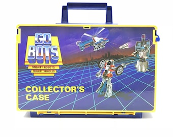 Vintage Go Bots - Collector's Case - Mighty Robots Mighty Vehcicles - Action Figure Carrying Case - Made By TONKA