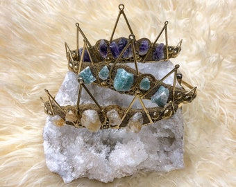 Guinevere Gold Tiara with choice of crystal - by Loschy Designs