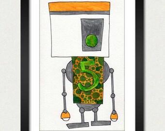 Robot 5 Slobot Art Print