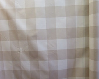 BUFFALO CHECK in linen designer,drapery/bedding/upholstery fabric