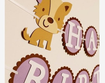 Animal Birthday Banner