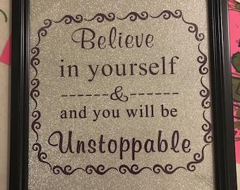 Believe in yourself wall art