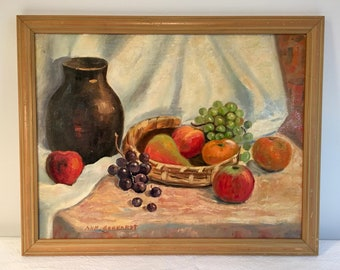 Mid-Century Still Life Oil Painting by Ann Gerhardt