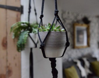 Black cotton plant hanger. 4ft length.