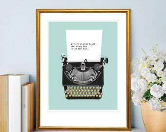 Vintage Typewriter Print