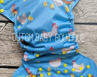 Chicken Crazy Cloth Diaper - Made To Order