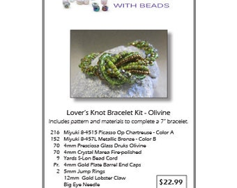 Lover's Knot Olivine Bracelet Kit