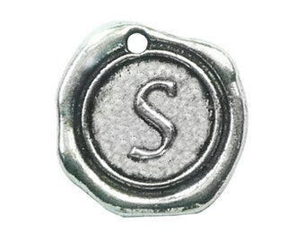5 pcs - Wax Seal Initial Silver Letter S 19x18mm - Ships from Texas by TIJC - SPWS