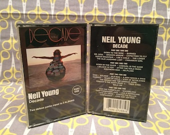 Decade by Neil Young Cassette Tape rock double album