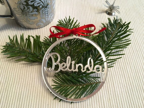 Personalised Christmas bauble Personalized names Gift tags Xmas decoration Custom Christmas ornament Acrylic Xmas baubles Tree decorations